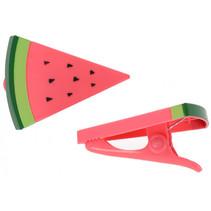 handdoekklem watermeloen roze/groen 2 stuks