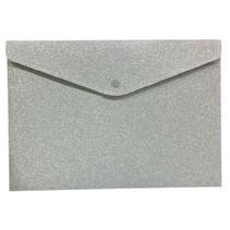 portfoliomap Glitter meisjes polyester zilver