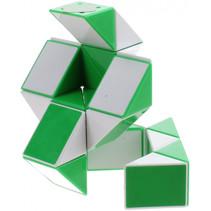 magische kubus Slang junior 9 cm groen/wit