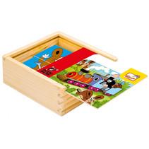 legpuzzel Little Mole junior 12 x 12 x 4 cm hout 17-delig