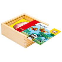 legpuzzel Little Mole & Panda junior 13 cm hout 17-delig