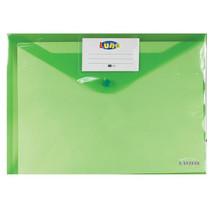 portfoliomap Office A4 polyester groen/transparant