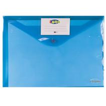 portfoliomap Office A4 polyester blauw/transparant
