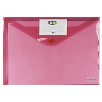 portfoliomap Office A4 polyester roze/transparant