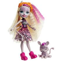 tienerpop Zadie Zebra meisjes 15 cm paars