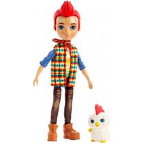 tienerpop Redward Rooster meisjes 15 cm blauw/rood