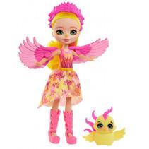 tienerpop Falon Phoenix meisjes 15 cm roze/geel