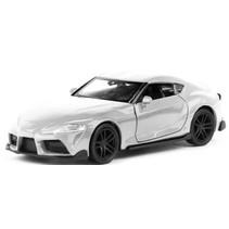 schaalmodel Toyota Supra 11 cm 1:34 staal wit