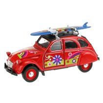 Citroën 2CV rood 11,5 cm
