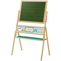 school-/tekenbord magnetisch junior 112 cm hout bruin