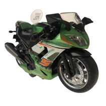 motor jongens 12 cm die-cast aluminium groen/oranje