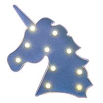 lamp Unicorn junior led 25,4 cm polypropyleen blauw