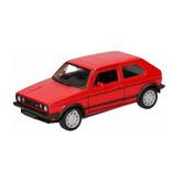 Welly schaalmodel VW Golf 1 GTI pull-back 12 cm rood