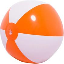 strandbal 66 cm PVC oranje/wit
