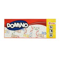 dominospel junior 13 x 5 x 2 cm wit/zwart 28 stenen