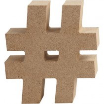 houten symbool # 8 cm