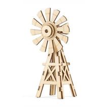 3D-puzzel Windmill 15 x 11 cm hout naturel