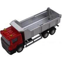 vrachtwagen Super Cars 1:64 zilver/rood 14 cm