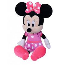 knuffel Disney Minnie Mouse 65 cm textiel roze/zwart