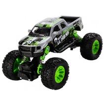 monstertruck jongens 16 cm staal grijs/groen
