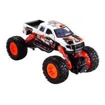 monstertruck jongens 16 cm staal wit/oranje