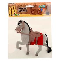 paard junior 22 x 18 cm grijs/rood 3-delig