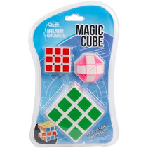 kubus Magic Cube groen/rood/roze 3-delig