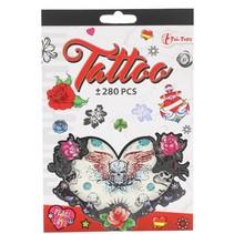 tattoo stickerboekje +280 stuks rood
