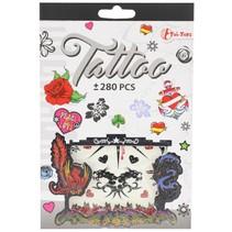 tattoo stickerboekje +280 stuks grijs