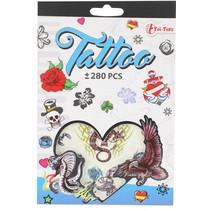 tattoo stickerboekje +280 stuks blauw