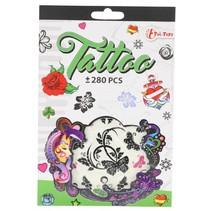 tattoo stickerboekje +280 stuks groen