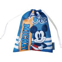 gymtas Mickey jongens 26,5 x 21,5 cm polyester blauw