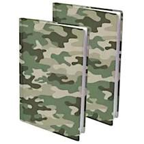 rekbare boekenkaft A4 textiel camouflage 2 stuks