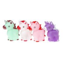 eenhoorns meisjes 6 x 5 cm roze/paars/groen 4-delig