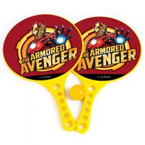 beachbalset Avengers jongens 36,5 cm geel 3-delig 2 Rackets