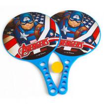 beachbalset Avengers jongens 36,5 cm blauw 3-delig 2 Rackets
