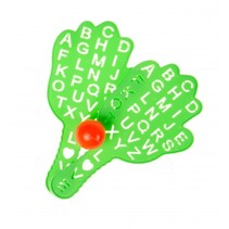 beachballset alfabet 3-delig groen