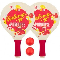 beachball set Paradise 4-delig rood/geel