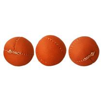 ballen blikgooien 7 cm leer rood 3 stuks