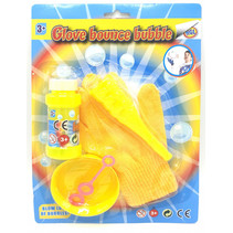bellenblaasset met handschoen junior geel 5-delig