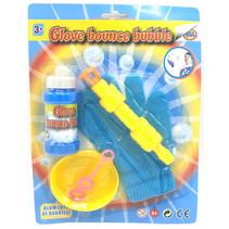 bellenblaasset met handschoen junior blauw/geel 5-delig