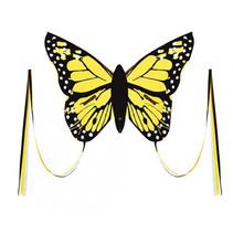 vlieger Bella Butterfly junior 80 cm geel 4-delig
