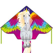 vlieger Pegasus junior 120 cm polyester roze 3-delig