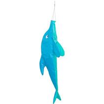 windzak dolfijn 100 x 35 cm polyester blauw