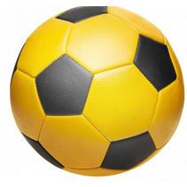 voetbal junior 22 cm geel