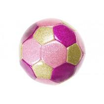 minivoetbal 15 cm roze