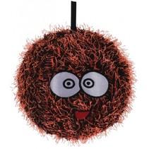 Opblaasbare monsterbal oranje 15 cm