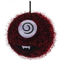 Opblaasbare monsterbal rood 15 cm