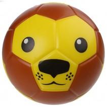 speelbal leeuwengezicht 15 cm bruin/geel