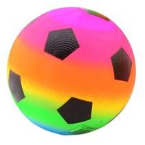 fleurige voetbal regenboog